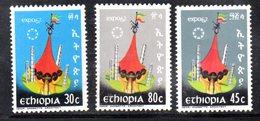 ETP125 - ETIOPIA 1967 ,  Yvert  N 476/478    ***  Montreal - Ethiopia