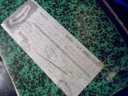 Vieux Papier Lettre  De Change De 1855 FAULQUIER  CADET  A Montpelier Cachet Imperial & Fiscal De 10 Ct - Cambiali
