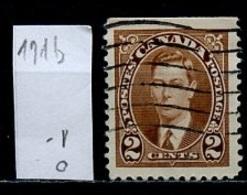 Canada - Kanada 1937 Y&T N°191h - Michel N°198Du (o) - 2c George VI - 1937-1952 Règne De George VI