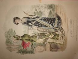 """Gravure Parue Dans """"La Mode Illustrée"""" N°25 De 1880, Toilettes De Mme Breant Castel, Chapeaux De Mme Deloffre, Ombrelle - Chromos"""