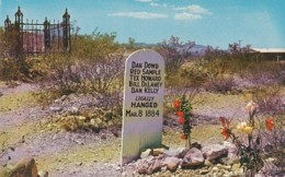 Arizona Tombstone Boothill Graveyard Graves Of Dowd Samples Howard Delaney & Kelly - United States