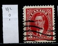 Canada - Kanada 1937 Y&T N°192 - Michel N°199 (o) - 3c George VI - 1937-1952 Règne De George VI