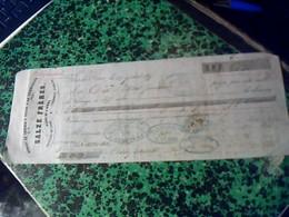Vieux Papier Lettre  De Change De 1855 ACHAT DE COUTILS & TULES A LA COMISSON A Flers .cachet Imperial & Fiscal De 10 Ct - Lettres De Change