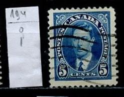 Canada - Kanada 1937 Y&T N°194 - Michel N°201 (o) - 5c George VI - 1937-1952 Règne De George VI