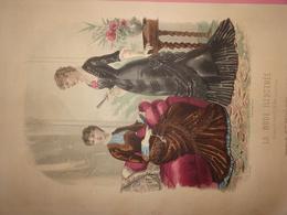 """Gravure Parue Dans """"La Mode Illustrée"""" N°39 De 1880, Toilettes De Mme Breant Castel, DOCUMENT ORIGINAL - Chromos"""