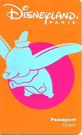PASS-n-DISNEYLAND-1998-DUMBO-ENFANT-V°-SPEOS-99/06/DUM-Couleur Orange Foncé R°/V° TB E - France