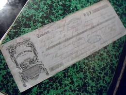Vieux Papier Lettre  De Change De 1855 GUSTAVE DEGEILE  A Toulouse Timbre Fiscal 5ct Cachet Imperial - Cambiali