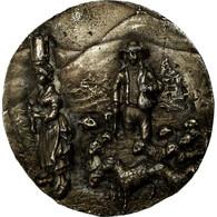 France, Médaille, Agriculture, Berger Et Son Troupeau, TTB, Silvered Bronze - France