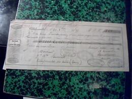 Vieux Papier Lettre  De Change De 1855 SERRE & LOUVRIER A Villefranche 81 Timbre Fiscal 15ct Cachet Imperial - Cambiali