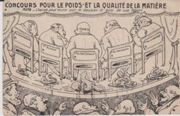 HUMOUR - SCATOLOGIE - Concours Pour Le Poids Et La Qualité De La Matiére - Humour