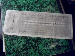 Vieux Papier Lettre  De Change De 1855 MERCERIE QUICAILLERIE ROUSSOULIERE FRERES  Timbre Fiscal 20 Ct Cachet Imperial - Cambiali