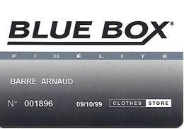 CARTE-n-MAGNETIQUE-FIDELITE -1999-BLUE BOX-31 -Vétements -TBE-rare - France