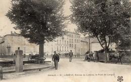 34.HERAULT. // LODEVE.ENTREE DE LODEVE ET LE PONT DE LERGUE - Lodeve