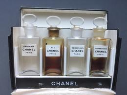COFFRET ANCIEN Les Exclusifs CHANEL 4 Miniatures No 2707 - Vintage Miniatures (until 1960)