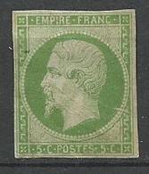NAPOLEON N° 12 Variétée Cercle Brisé NEUF* CHARNIERE   / Signé CALVES - 1853-1860 Napoléon III
