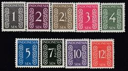 INDONESIEN 1949 - MiNr: 13-21  9 Werte Komplett **/MNH - Indonesien