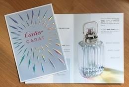 CC Carte 'CARTIER' 'CARAT' Perfume Card 1 EX.! - Perfume Cards