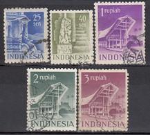 INDONESIEN 1949 - MiNr: 24-38  5 Werte  Used - Indonesien
