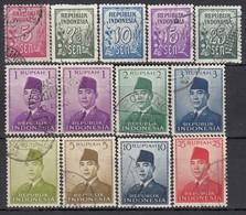 INDONESIEN 1951 - MiNr: 73-88 13 Werte  Used - Indonesien