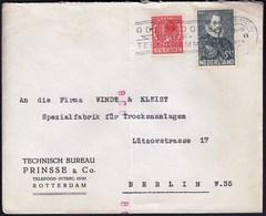 Netherlands Rotterdam 1933 / 2½ Cent Queen Wilhelmina, 5 King William I / Goedkoope Brief Telegramme - 1891-1948 (Wilhelmine)
