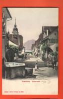 EBG-20 Küssnacht Kanton Schwyz Dorfstrasse. Belebt. Attelage. Photoglob 5003, Gelaufen 1909 - SZ Schwyz