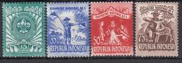 INDONESIEN 1955 - MiNr: 138-141  4 Werte  **/MNH - Indonesien