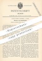 Original Patent - Louis Marie Chorier , Paris , Frankreich , 1884 , Kammfabrikation   Kamm , Kämme , Frisur , Haare !!! - Documents Historiques