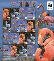 Bahamas 2012 Wwf Flamingo Birds Klb MNH - W.W.F.