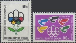 //// CHYPRE TURQUE Yvert 20 - 21** Michel 34 - 35** - Ete 1976: Montréal