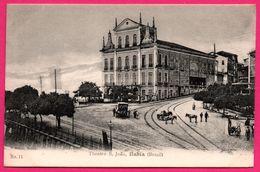 Brésil - Brazil - Bahia - Theatro S. Joao - Calèche - Attelage - Animée - Edit. J.MELLO - Salvador De Bahia