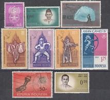 INDONESIEN 1961-1963 -  9 Werte  **/MNH - Used - Indonesien