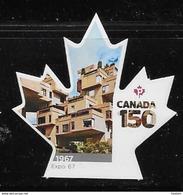 CANADA 2017  #3000i, CANADA 150th  EXPO 67  SINGLE  DIE CUT - Carnets
