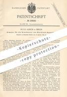 Original Patent - Hugo Alisch , Berlin , 1884 , Armatur Für Die Druckkessel Von Bierdruckanlage   Zapfanlage , Bier !!! - Documents Historiques
