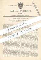 Original Patent - Herm. Kolbe , Halle / Saale , 1884 , Elektrischer Wasserstandsanzeiger   Dampfkessel   Kessel !!! - Documents Historiques