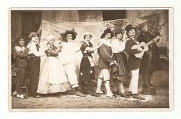 CT--02707-- FOTO CARTOLINA GRUPPO DI MASCHERE-CHITARRA-TROMBA- CARNEVALE DEL  1926 - Costumi