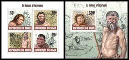 NIGER 2013 - Prehistory - YT 2058-61 + BF221; CV=31 € - Niger (1960-...)
