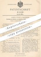 Original Patent - Joseph Vögele , Mannheim , 1902 , Bekohlen Von Lokomotive , Schiff , Dampfkessel   Kohle , Feuerung !! - Documents Historiques