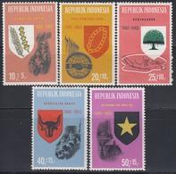 INDONESIEN 1965 - MiNr: 490-494  Komplett ** / MNH - Indonesien