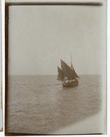 Mer Ocean Voilier 1900 1910 Sepia Lumière Superbe Voile Bateau Boat Ancien - Boten