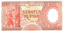 Indonesia P.59 100 Rupiah 1958   Unc - Indonesia