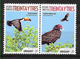 Uruguay 2018 Birds Fauna 2v MNH - Oiseaux