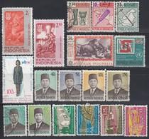 INDONESIEN 1967-1969 - 18 Werte ** / MNH - Used - Indonesien