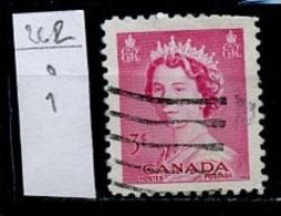 Canada - Kanada 1953 Y&T N°262 - Michel N°279 (o) - 3c Elisabeth II - 1952-.... Règne D'Elizabeth II
