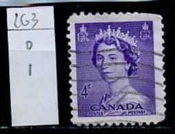 Canada - Kanada 1953 Y&T N°263 - Michel N°280 (o) - 4c Elisabeth II - 1952-.... Règne D'Elizabeth II