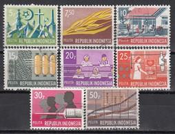 INDONESIEN 1969 - MiNr: 644-653  8 Werte   Used - Indonesien