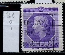 Canada - Kanada 1953 Y&T N°265 - Michel N°282 (o) - 4c Couronnement D'Elisabeth II - 1952-.... Règne D'Elizabeth II