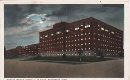 Minnesota Rochester New St Mary's Hospital At Night 1928 - Rochester