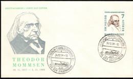 BER SC #9N148 1958 Theodor Mommsen FDC 10-24-1958 - [5] Berlin