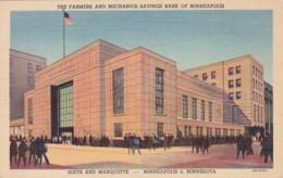 Minnesota Minneapolis The Farmers And Mechanics Savings Bank Curteich - Minneapolis