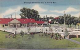 Minnesota St Cloud Municipal Swimming Pool Curteich - United States